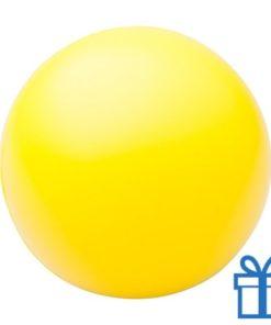 Antistress bal rond geel bedrukken