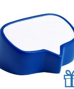 Antistress bal tekstwolk blauw bedrukken