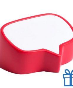 Antistress bal tekstwolk rood bedrukken
