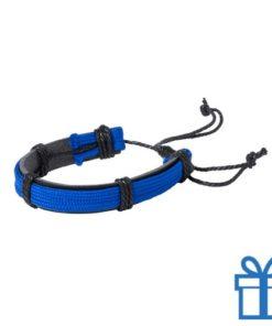 Armband unisex PU leder blauw bedrukken