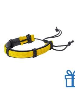 Armband unisex PU leder geel bedrukken