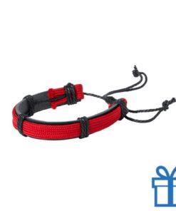 Armband unisex PU leder rood bedrukken