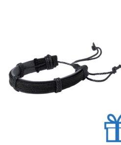 Armband unisex PU leder zwart bedrukken