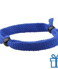 Armband unisex verstelbaar blauw bedrukken