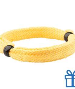 Armband unisex verstelbaar geel bedrukken
