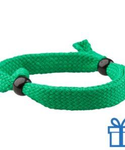 Armband unisex verstelbaar groen bedrukken