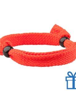 Armband unisex verstelbaar rood bedrukken