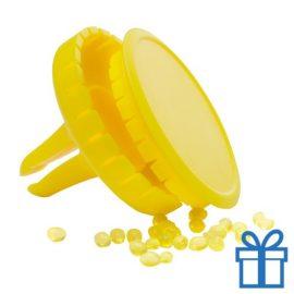 Auto luchtverfrisser limoen geel bedrukken