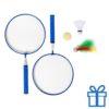Badminton set blauw bedrukken