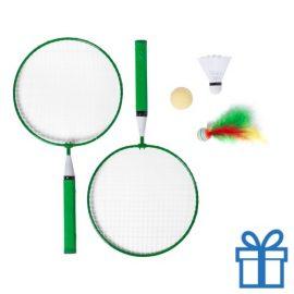 Badminton set groen bedrukken