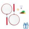 Badminton set rood bedrukken