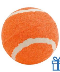 Bal voor de hond oranje bedrukken