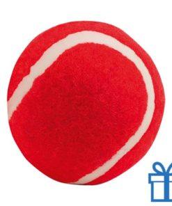 Bal voor de hond rood bedrukken