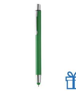 Balpen en touchtip groen bedrukken