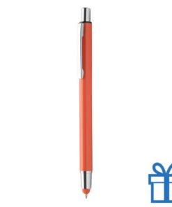 Balpen en touchtip oranje bedrukken