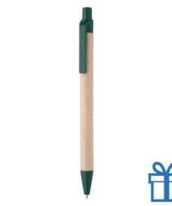 Balpen gerecycled papier groen bedrukken