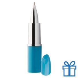 Balpen lippenstift lichtblauw bedrukken