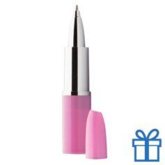 Balpen lippenstift roze bedrukken