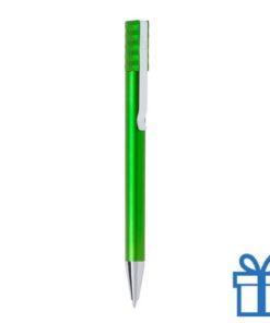 Balpen metallic clip goedkoop groen