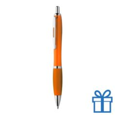 Balpen rubberen grip gekleurd handvat oranje