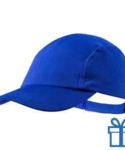 Baseball cap koelpet blauw bedrukken