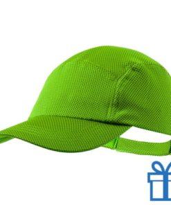 Baseball cap koelpet groen bedrukken