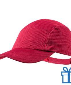 Baseball cap koelpet rood bedrukken