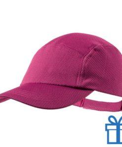 Baseball cap koelpet roze bedrukken