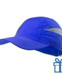 Baseball pet microvezel blauw bedrukken