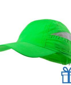 Baseball pet microvezel groen bedrukken