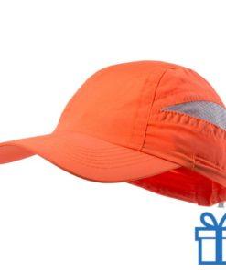 Baseball pet microvezel oranje bedrukken