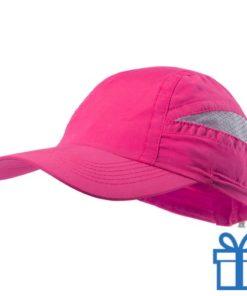 Baseball pet microvezel roze bedrukken