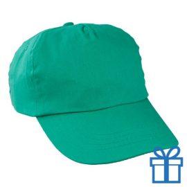 Baseballcap katoen 5 panelen kleur groen bedrukken