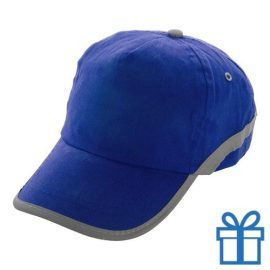 Baseballcap katoen reflector blauw bedrukken