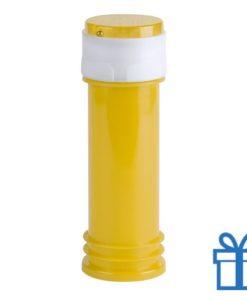 Bellenblaas geel bedrukken