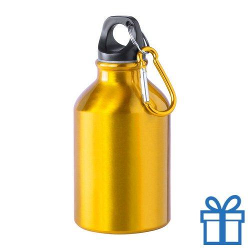 Bidon 300ml aluminium geel bedrukken