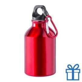 Bidon 300ml aluminium rood bedrukken