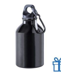 Bidon 300ml aluminium zwart bedrukken