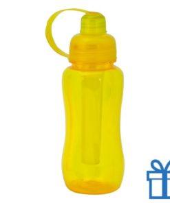 Bidon koeling element 600ml geel bedrukken