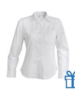 Blouse dames katoen XL wit bedrukken