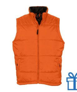 Bodywarmer unisex M oranje bedrukken