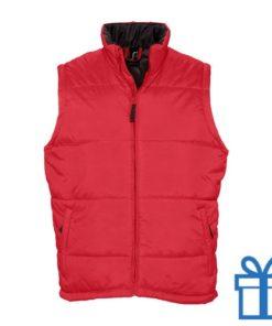 Bodywarmer unisex XL rood bedrukken