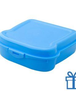 Broodtrommel sandwich blauw bedrukken