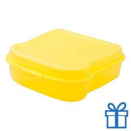 Broodtrommel sandwich geel bedrukken