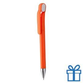 Budget balpen chromen tip oranje
