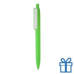 Budget balpen custom made clip groen