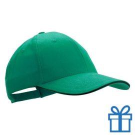 Cap geborsteld groen bedrukken