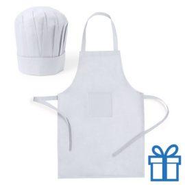 Chef keukenset kids wit bedrukken
