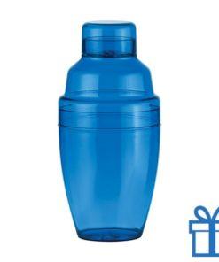 Cocktail shaker plastic blauw bedrukken