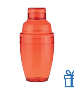 Cocktail shaker plastic rood bedrukken